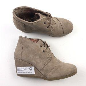 TOMS Womens Desert Wedge Boots DRA01500